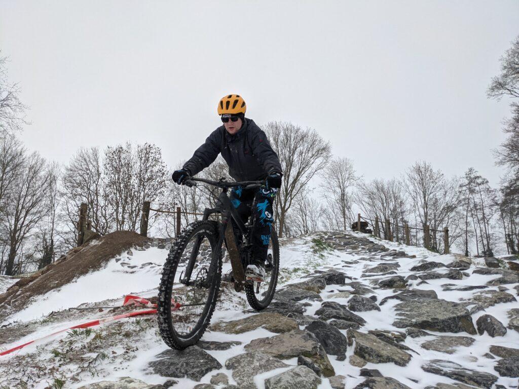 Photo: BikePark Holten rocksgarden Jarno sneeuw